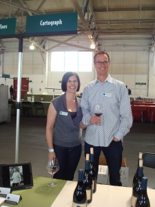 Brandye and Alan are ready to pour some Pinot