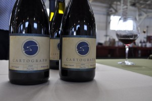 Brandye Alexander took this fun photo of our Pinot noir as we were setting up