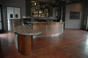 The tasting room bar