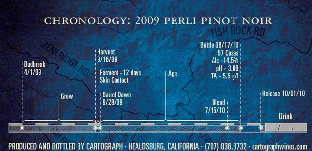 2009 Perli Vineyard Pinot noir back label